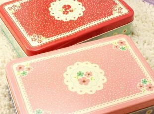 ♂最可爱♀日韩国创意文具12-126碎花铁盒桌面物品收纳盒满88包邮,创意礼品,