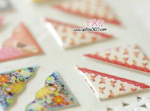 【满6件包邮】韩国文具 田园花纹角贴 相片贴角 相册DIY必备,创意礼品,
