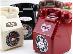 韩版可爱卡通电话机造型 存钱罐 储蓄罐 存储罐 290g,创意礼品,