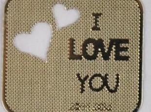 甜蜜爱情韩国Q版表情24K镀金防辐射手机贴纸 --创意实用礼品,创意礼品,