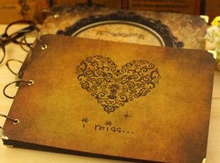 韩国创意DIY手工相册 宝宝成长记录情侣 黑卡 送角贴剪刀,创意礼品,