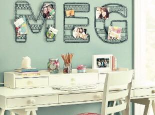 韩国出口 黑色铁艺英文字母相框相片夹 墙壁壁挂挂饰 现货,创意礼品,