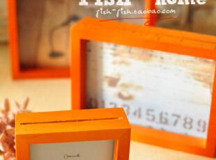 【50包邮】zakka 原木 简约派 桌面相框 像框照片框 大中小三款选,创意礼品,