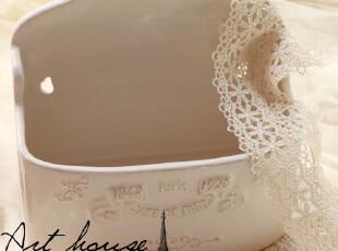 出口欧美星巴克风浮雕复古陶瓷花插 收纳罐 创意挂件家居日用装饰,创意礼品,