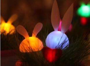 陶瓷月光兔小夜灯 情侣兔光控节能灯具 真草种植浪漫礼物GIRL BOY,创意礼品,