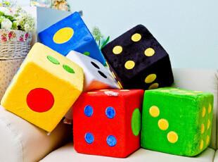 VIP5.8折 创意可爱抱枕数子海绵色子骰子批发游戏趣味大毛绒筛子,创意礼品,