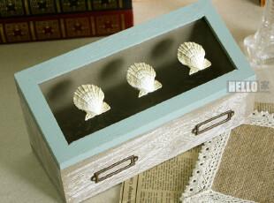 复古做旧实木盒 zakka杂货 储物柜 地中海洋系列 收纳柜 收纳盒,创意礼品,