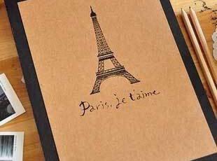 经典复古系.DIY相册】巴黎.PAIRS【纪念册.拼贴本 感怀青春,创意礼品,