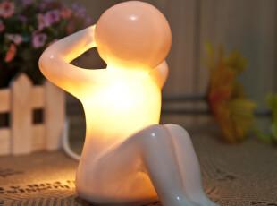 创意陶瓷小夜灯 卧室床头台灯 卧室摆件 香薰夜灯 可爱小人,创意礼品,