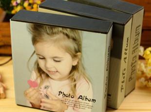 韩国创意 插页相册 宝宝成长记录 32张 4D大6寸 全景6寸 女孩影集,创意礼品,