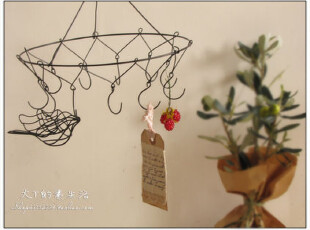 ZAKKA杂志款-优雅铁线挂饰 吊环挂钩装饰  日本杂货(特价),创意礼品,