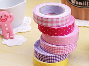 韩国文具 唯美 多功能 装饰胶带 礼品包装带 棉布胶带 印花胶布,创意礼品,