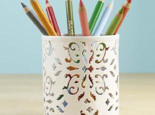 外贸出口金属镂空唯美铁艺镂花创意时尚礼品笔筒铅笔盒笔架,创意礼品,