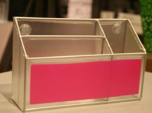 Fers'磨砂lookers炫色系列磁性分隔笔筒 收纳桶 冰箱贴 文具 玫红,创意礼品,