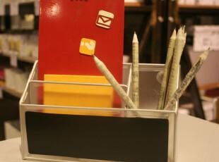 Fers'磨砂lookers炫色系列磁性分隔笔筒 收纳桶 冰箱贴 文具 黑色,创意礼品,