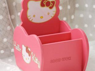 包邮 hello kitty旋转收纳盒 木盒 化妆品笔筒遥控器手机,创意礼品,