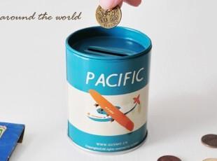 正品授权zakka我是环游世界的小宇宙铁皮储蓄罐小铁盒,创意礼品,