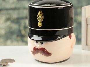 礼品批发 257/10 超萌 英国皇家士兵存钱罐 手绘陶瓷储蓄罐 礼品,创意礼品,