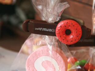 日单 巧克力甜甜圈封口夹 多款随机发 一套8款,创意礼品,