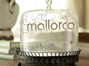 【马洛卡】法式乡村风格铁艺底托蛋糕托  玻璃罩,创意礼品,