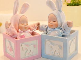 巧匠屋 摇头娃娃兔宝宝音乐盒八音盒生日礼物女生实用创意礼品,创意礼品,