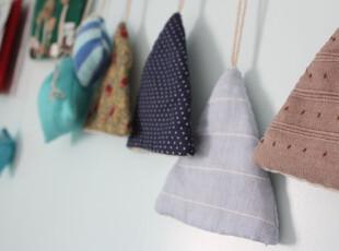 碳头原创手工-----三角形 钥匙收纳包【文艺 棉麻 】,创意礼品,