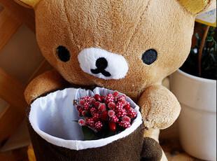 轻松熊咖啡杯 毛绒笔筒|手机座|迷你收纳桶,创意礼品,