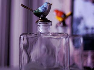 【东游记.礼品】9许愿瓶.干花瓶密封合金小鸟玻璃瓶,创意礼品,