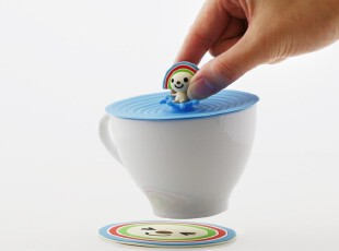 open小将 欢乐午茶杯盖+杯垫组合 创意生活 创意礼品,创意礼品,