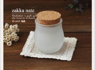 zakka杂货 圆肚磨砂玻璃木塞瓶 星星瓶 许愿瓶 拍摄道具,创意礼品,