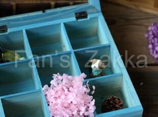 「Fan's Zakka」海洋蓝*9格收纳盒 650g*玻璃裂了*瑕疵处理,创意礼品,