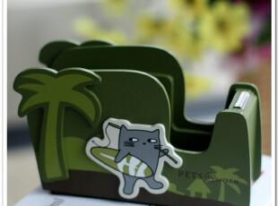 香港ZENSE正品 kamkam猫猫可爱胶带切割座胶台胶纸座创意礼物包邮,创意礼品,