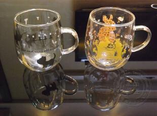 香港Semk创意礼品Kat小猫Rab.B小兔双层隔热玻璃杯水杯原价138元,创意礼品,