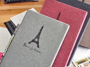【满6件包邮】韩国复古巴黎铁塔牛皮黏贴式相册相簿影集 送角贴,创意礼品,