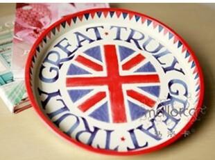 【马洛卡】英伦风情 铁皮面包托盘/水果盘/零食盘米字旗 果盘,创意礼品,