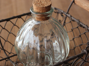 Fan's zakka杂货 复古软木塞南瓜瓶 漂流瓶,创意礼品,