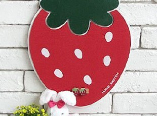 韩国进口家居.可爱草莓留言板(纸片式).-.LS013,创意礼品,