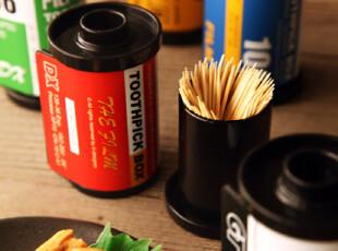 创意 文艺 胶卷 牙签罐 五色选,创意礼品,