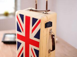 zaa杂啊 复古旅行箱家居摆设 国旗马口铁旅行箱造型铁盒收纳装饰,创意礼品,
