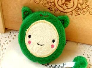 韩国文具 超Q卡通动物毛绒卷尺易携带 方便卷尺 可爱小巧(绿色),创意礼品,