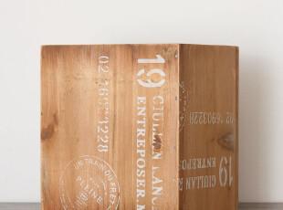 zakka杂货 实木复古英文丝印笔筒 个性桌上摆设 杂货收纳盒 特价,创意礼品,
