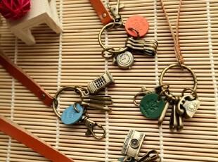 ZAKKA质感 VINTAGE超复古 做旧金属装饰 超大钥匙扣 4色,创意礼品,