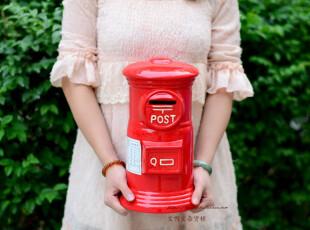 Bao ZAKKA 杂货 日本 经典复古红色 超大 大邮筒 存钱罐 带原装盒,创意礼品,