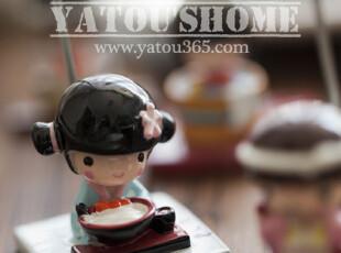 【满6件包邮】可爱小东西安藤木子日本和服娃娃创意留言夹便签夹,创意礼品,