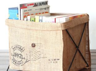 大号可立亚麻脏衣袋杂物收纳 纯麻布 布艺 环保家居 可折叠 zakka,创意礼品,