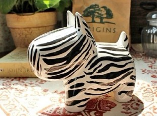 【A grass】外贸出口手绘陶瓷立体浮雕抽象斑马存钱罐\储蓄罐!,创意礼品,