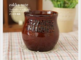 zakka日单杂货 复古箴言瓶 陶瓷罐储物罐|拍摄道具 笔筒,创意礼品,