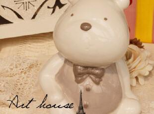 出口欧洲卡通小熊陶瓷存钱罐 储蓄罐 家居饰品 创意礼品 摆件,创意礼品,