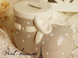 出口欧美 卡通迷人波点陶瓷 储蓄罐 摆件 靴子陶瓷存储罐,创意礼品,