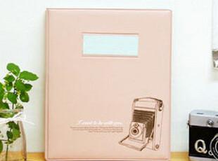 8折批发 韩国相机木马系列4x6插页式6寸相册影集80张入 2色 605克,创意礼品,